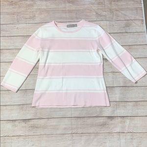 Croft & barrow 100% Cotton Striped Sweater A30